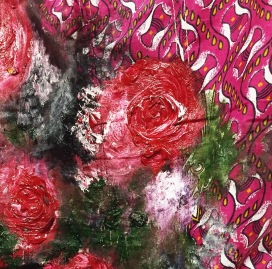 Roses on Fabric