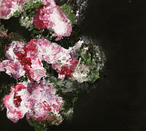 Roses (Oil Paints On Wood)